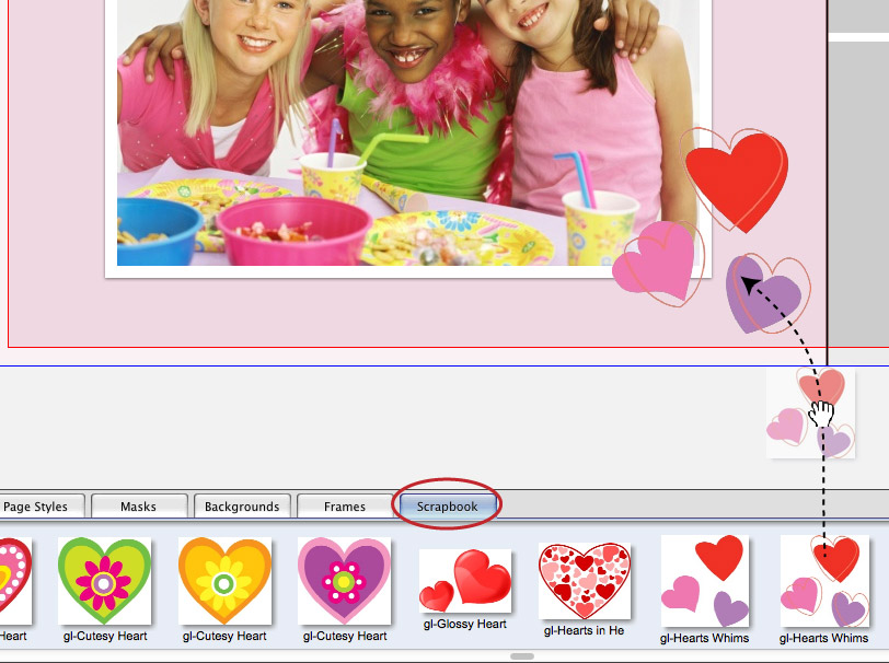 Add Scrapbook Item to Page-01