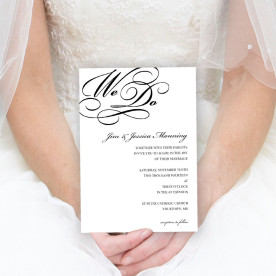 Create custom wedding invitations with Focus in Pix free software