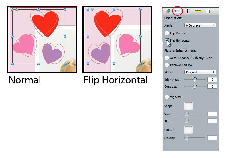 Flip Scrapbook Item