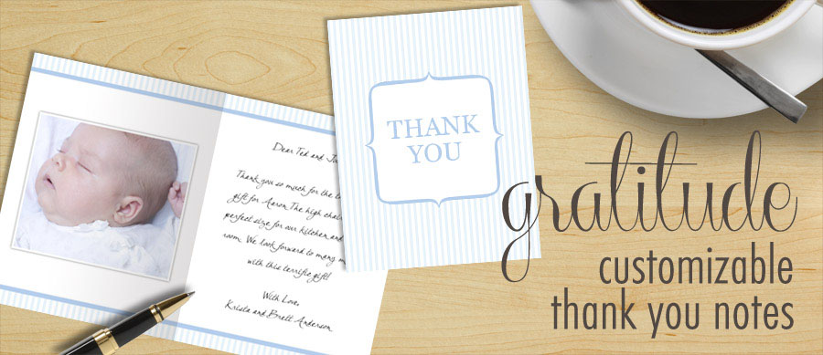 Create Thank You Cards and custom Note Cards with Focus in Pix free templates.