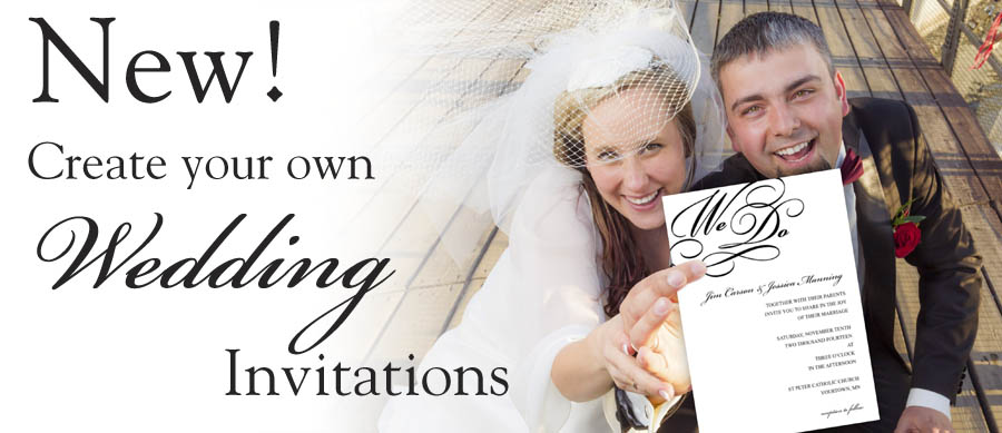 Create Wedding Invitations and Announcements with Focus in Pix free templates.