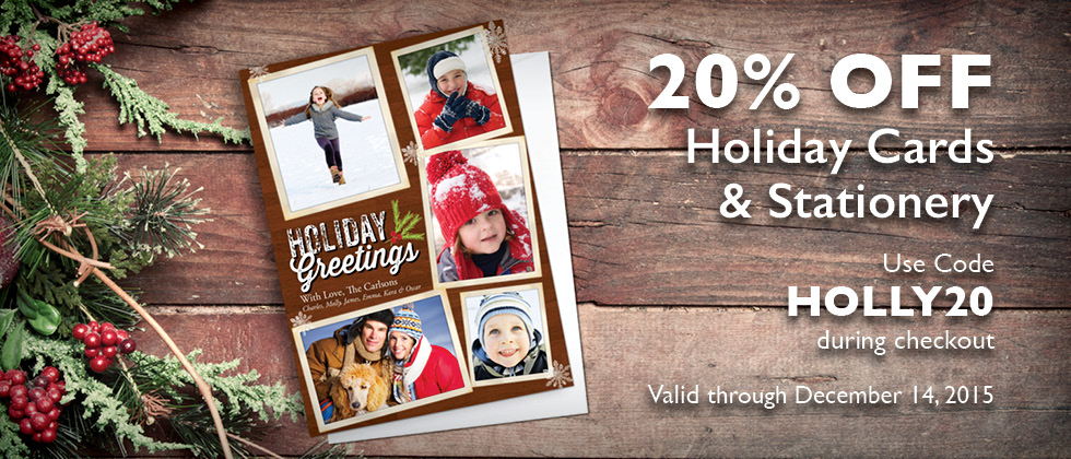 20% Off Holiday Cards and Stationery | Focus in Pix