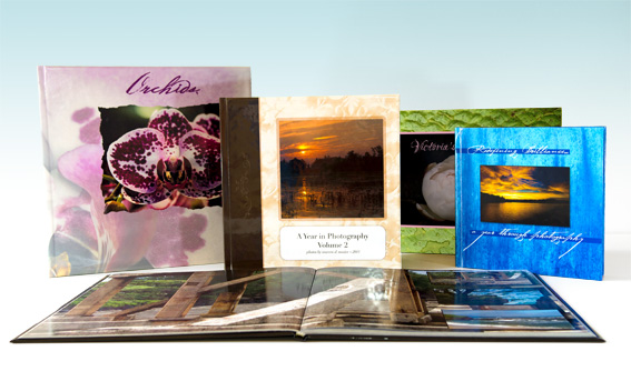 Product shots of our custom photo books