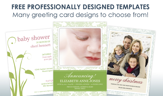 Greeting Card Samples of professionally designed personalized greeting cards