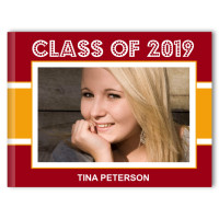 Classic Stripe - Graduation Photo Memory Book