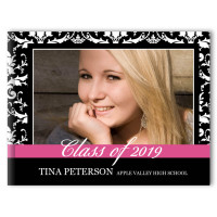 Damask with Stripe- Graduation Photo Memory Book