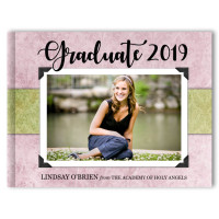 Vintage Textures - Graduation Photo Memory Book