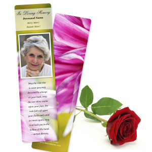 Memorial Bookmarks two sided with rounded corners