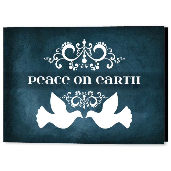 Peaceful Doves Holiday Christmas Card