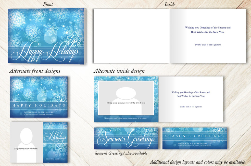 Abstract Snowflakes Holiday Christmas Card