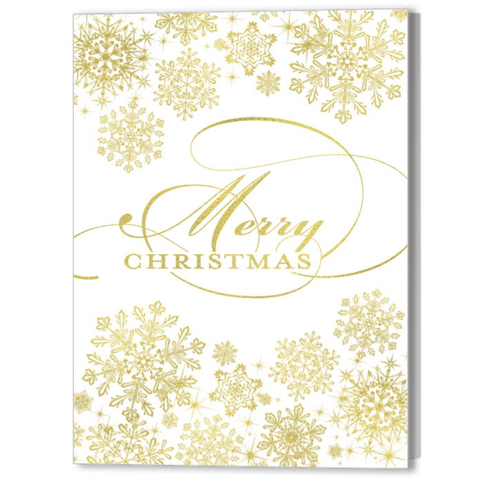 Elegant Snowflakes Holiday Christmas Card
