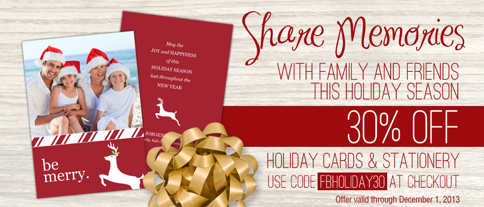 FBHoliday30 Card Promotion