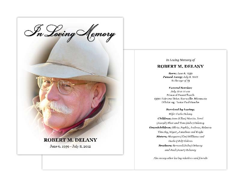 Memorial Cards, Memorial Programs And Memorial Bookmarks