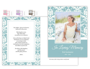 Focus in Pix Custom Memorial Card