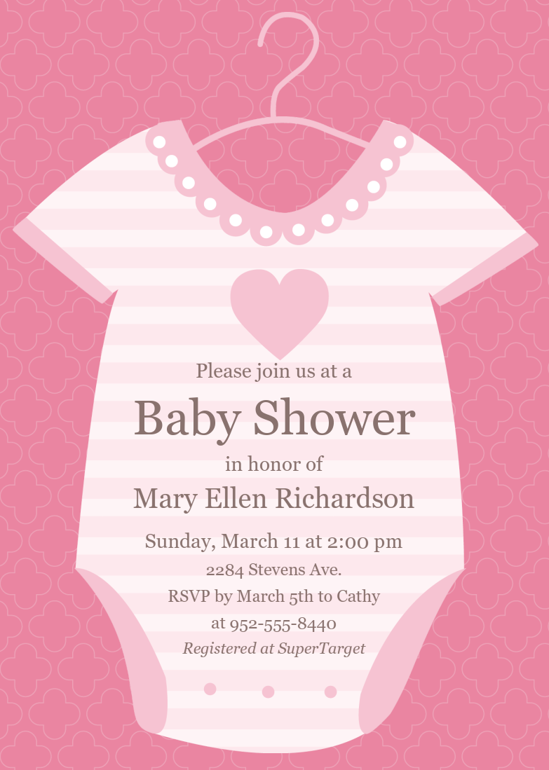 Baby Shower Invitations  Baby Shower Invitation Template Download