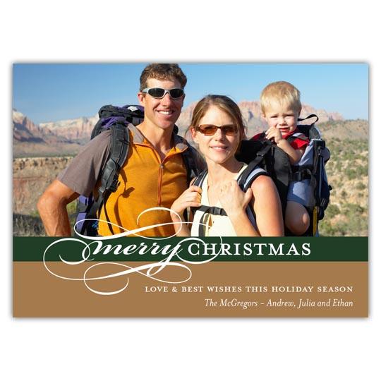 Elegant Merry Christmas Holiday Christmas Card