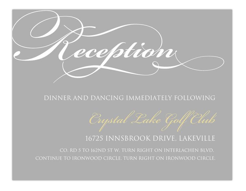 Reception Card Example 1