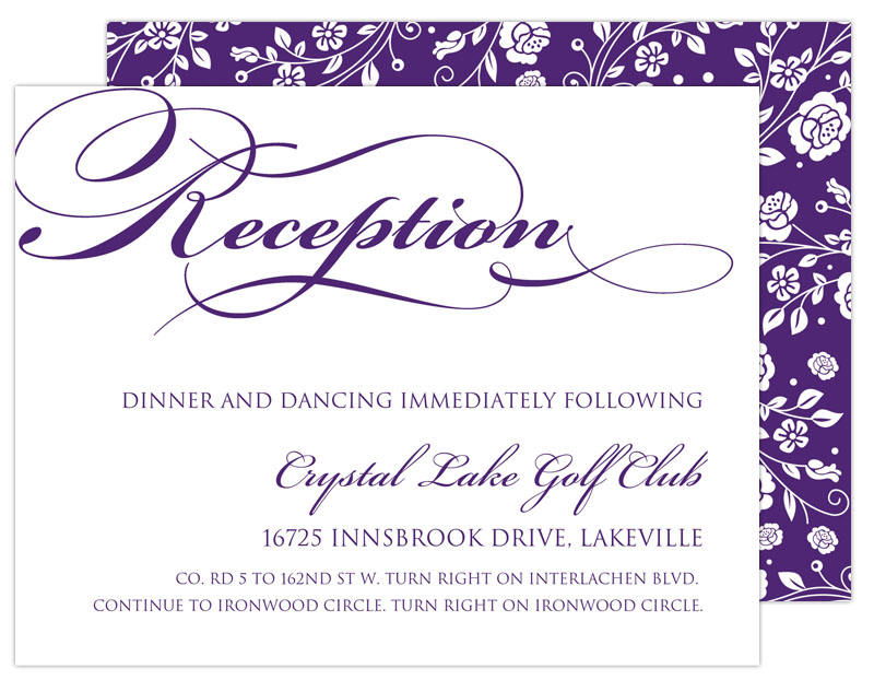 Reception Card Example 2