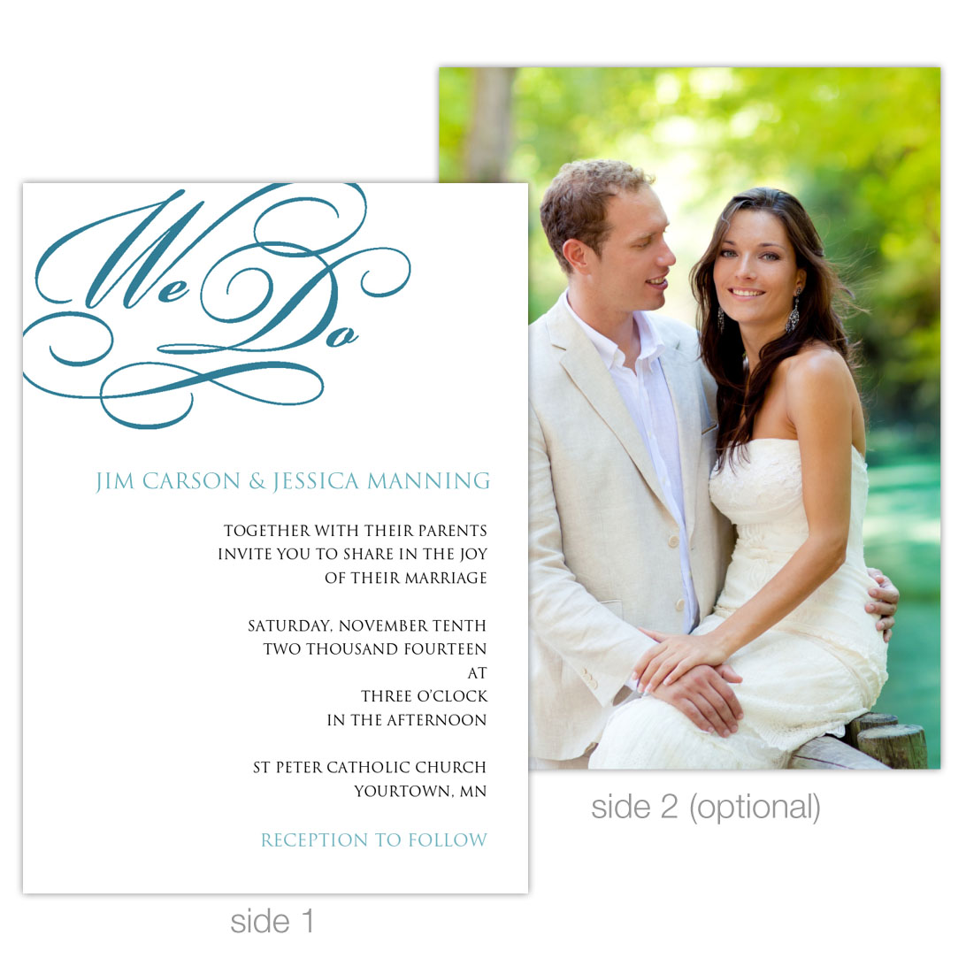 """We Do"" 5x7 Invitation Example"