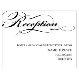 """""""We Do"""" Reception Cards"""