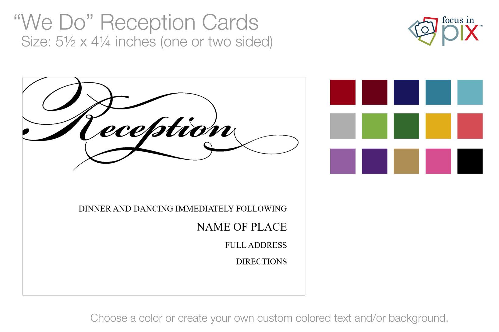We Do Reception Cards