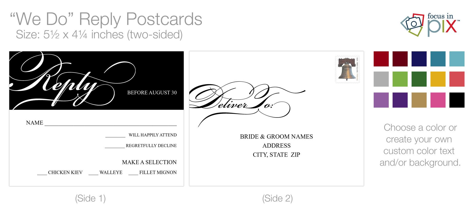 """We Do"" Reply Postcard"