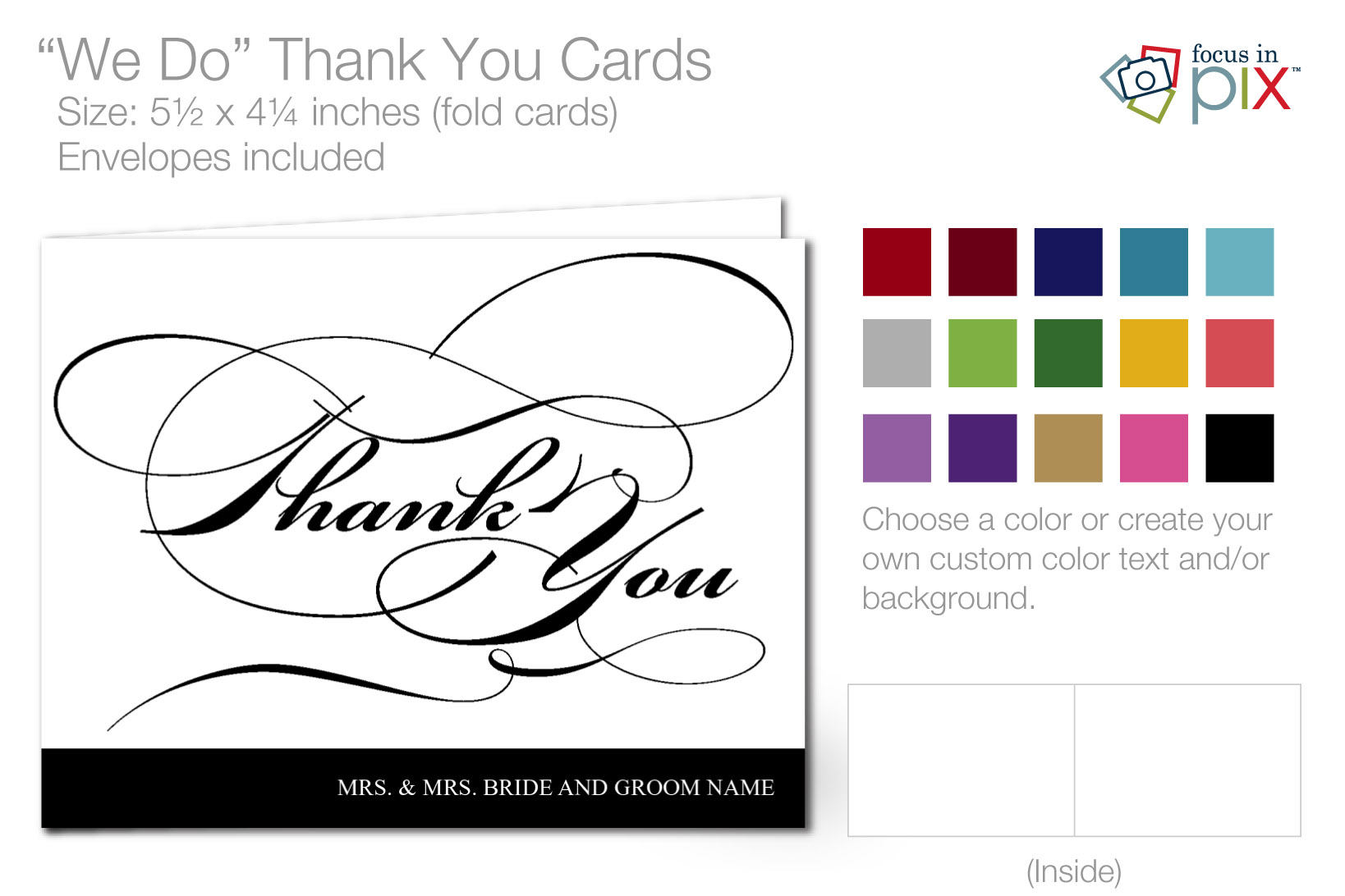 We Do Thank You Cards Info Black