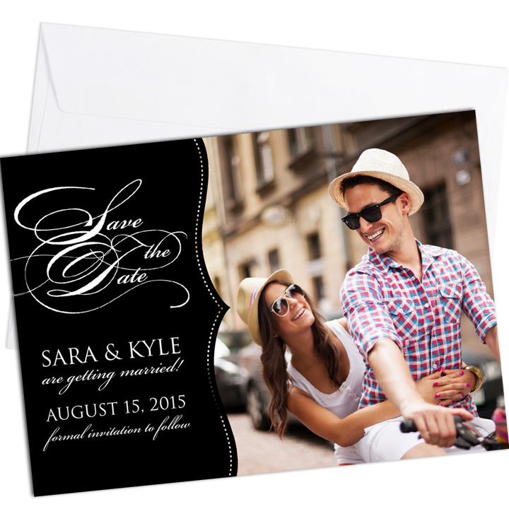 "Focus in Pix ""Save the Date"" cards"