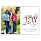 Peace Love Joy Embellish (7x5)