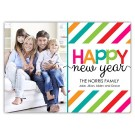 Cheery New Year with Stripes (7x5)