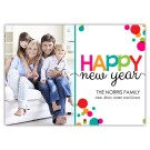 Cheery New Year with Bubbles (7x5)