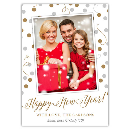 Celebration Spheres (5x7) Holiday Christmas Card