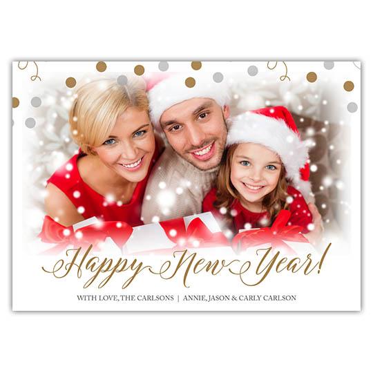 Celebration Spheres 7x5 Holiday Christmas Card