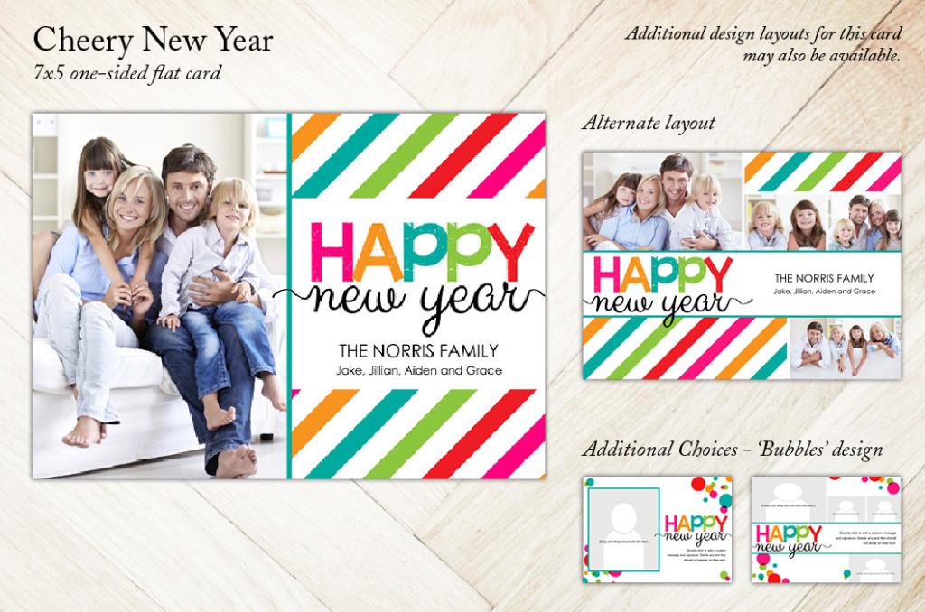 Cheery New Year Holiday Card