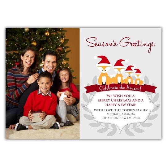 Christmas Fox Holiday Christmas Card