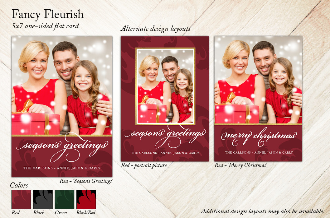 Fancy Fleurish, Focus in Pix Holiday Card