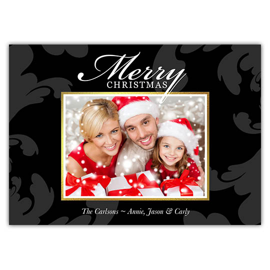 Fancy Fleurish Holiday Christmas Card