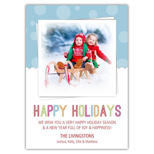 Ice Cream Holidays Christmas Card
