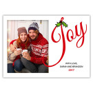 Joy with Mistletoe Holiday Christmas Card