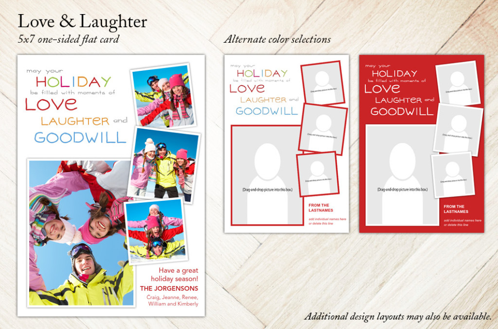 Love and Laughter Holiday Christmas Card