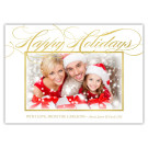 Scripty Happy Holidays Christmas Holiday Card
