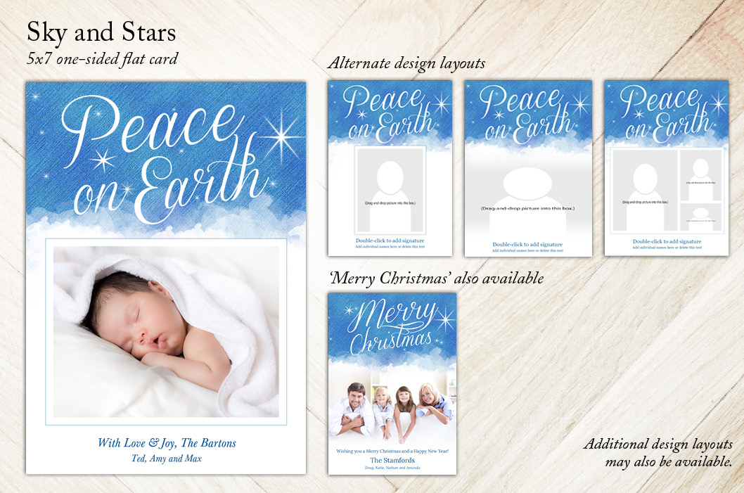 Sky and Stars 5x7, Focus in Pix Holiday Christmas Card