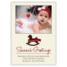 Toy Horse Focus in Pix Holiday Christmas Card