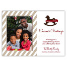 Toy Horse 5x7 Holiday Christmas Card