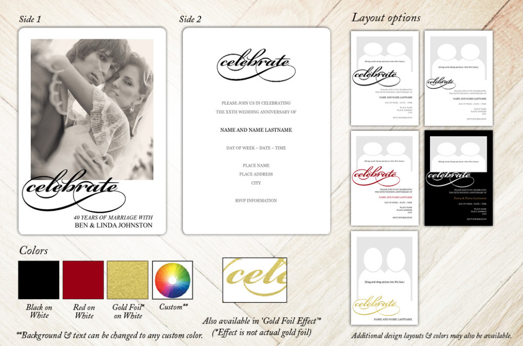 Classic Celebrate Anniversary Party Invitation from Focus in Pix