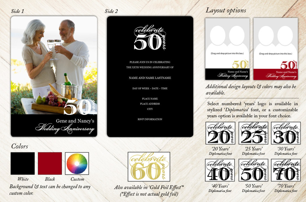 Classic Vintage Anniversary Party Invitation from Focus in Pix