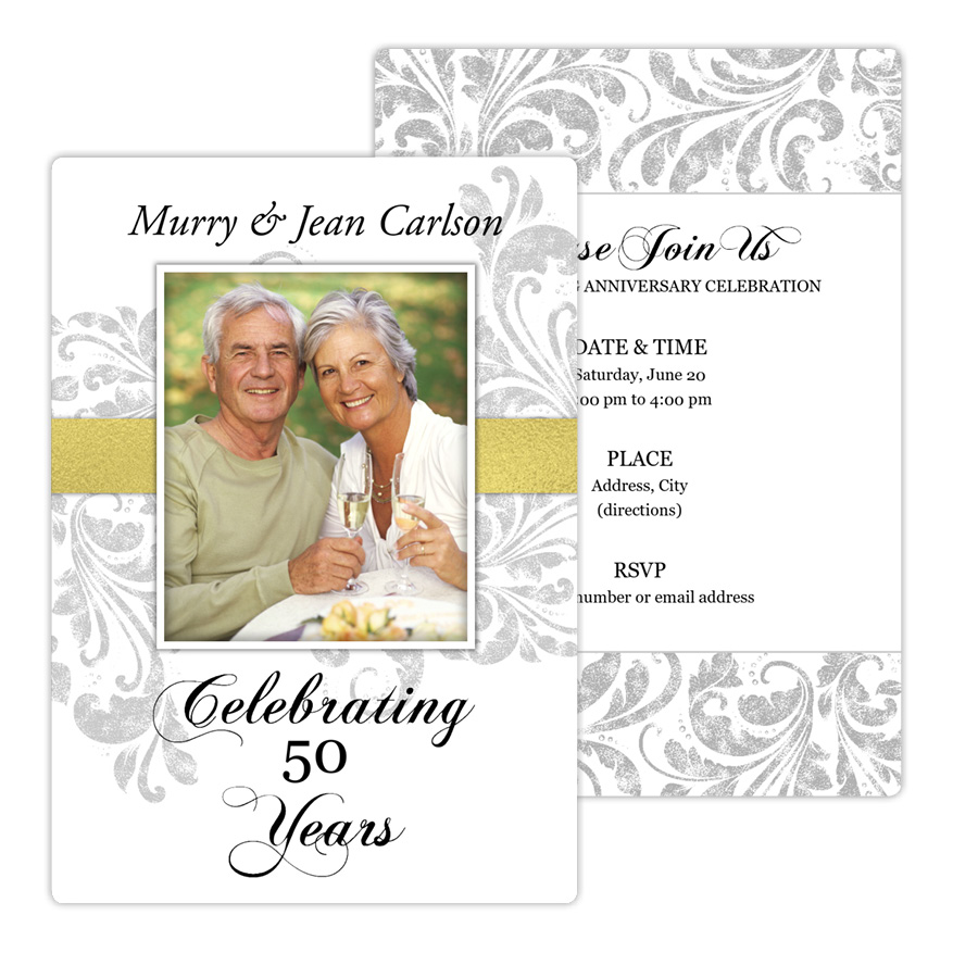Flair Motif Anniversary Party Invitation from Focus in Pix