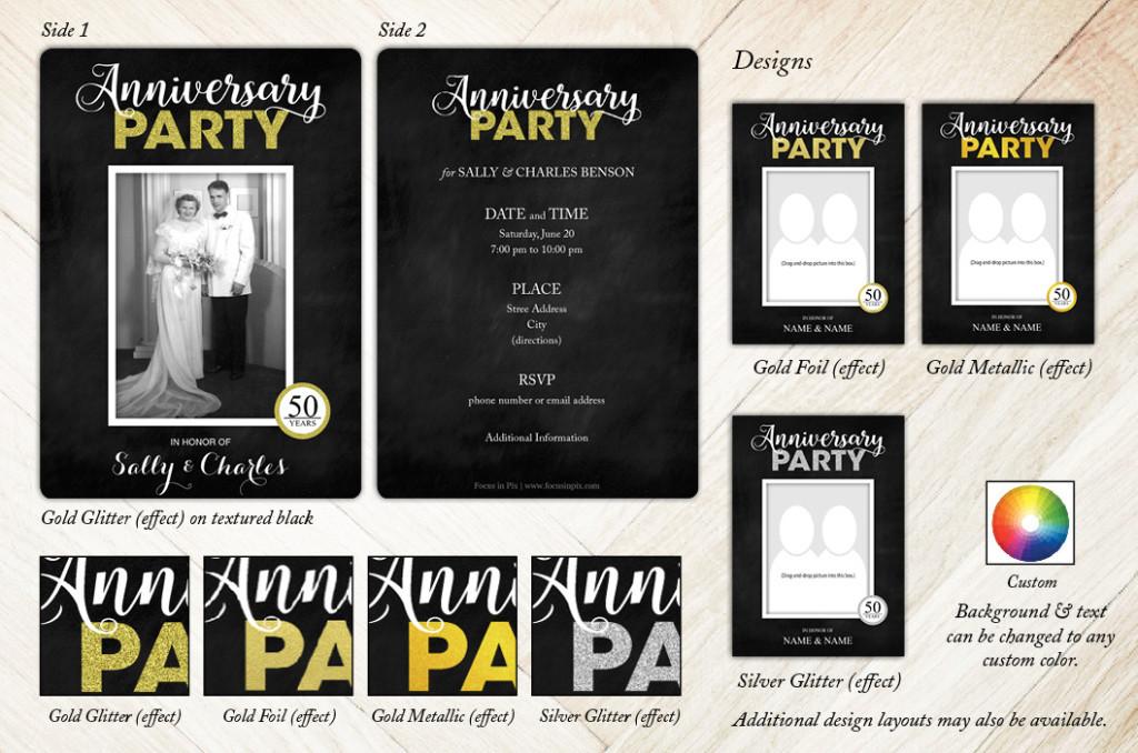 Glitzy Celebration Anniversary Party Invitation from Focus in Pix