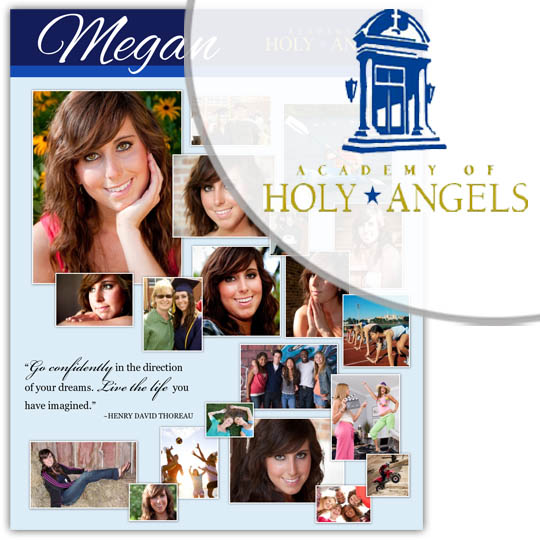 Create a High School Graduation Poster for your Academy of Holy Angels graduate!
