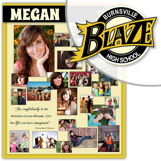 Create a High School Graduation Poster for your Burnsville High School graduate!